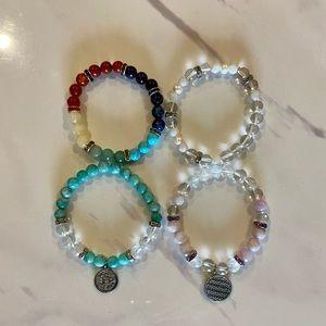 Genuine gemstone bracelet set
